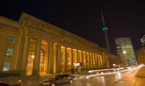 Union Station Toronto Nightime