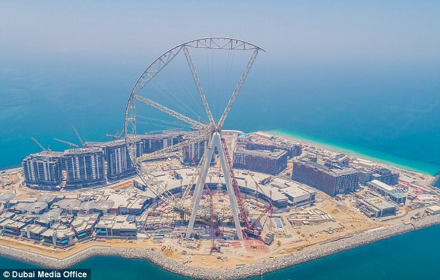 Dubai Eye steel pods coated with Contego Reactive Fire Barrier